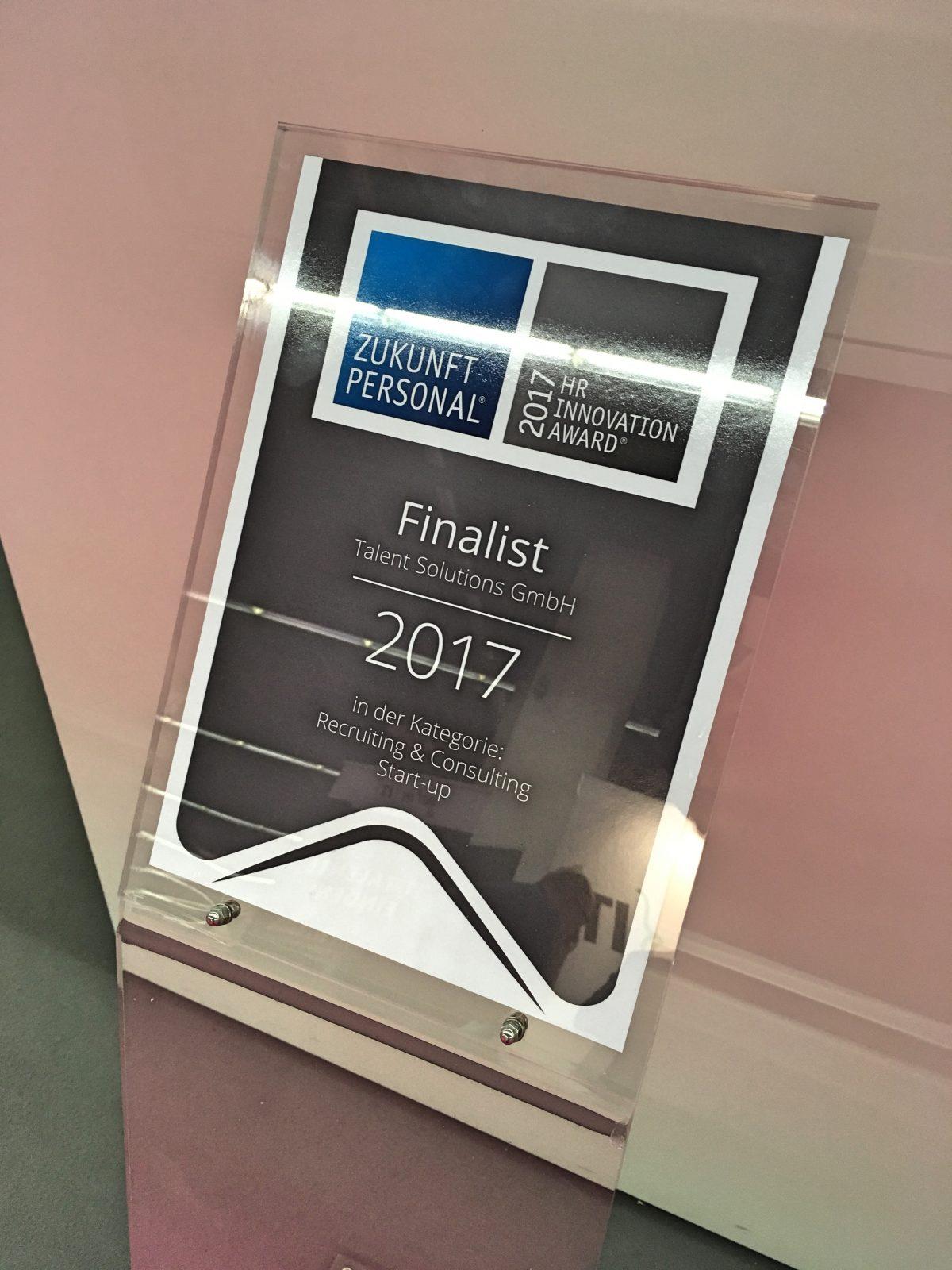myVeeta: 2. Platz beim HR Innovation Award 2017