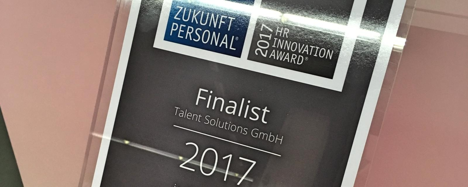 Finalist beim HR Innovation Award 2017
